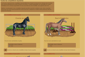 Horzer - The equestrian competitions